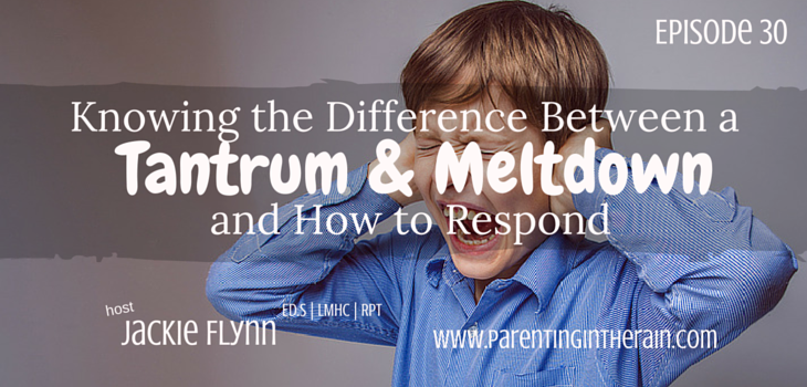 30: Knowing the Difference Between a Tantrum & Meltdown and How to Respond to Both